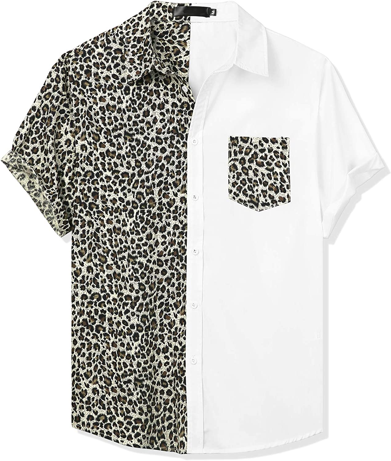 Lars Very popular! Amadeus Men's Color Oakland Mall Block Short Sleeve Down Button Casual S