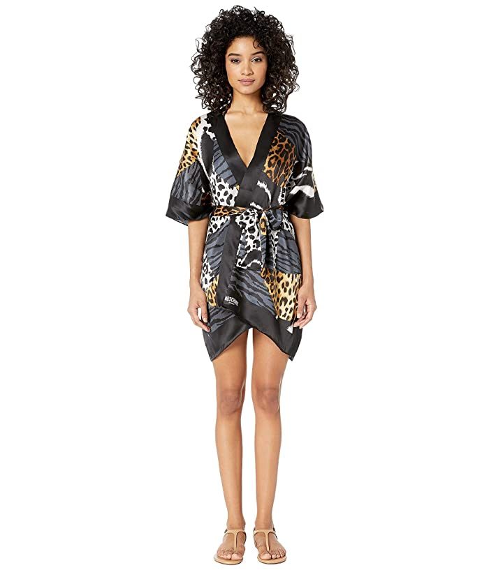 Moschino Patchwork Animal Print Robe Cover-Up (Patchwork Animalier) Women