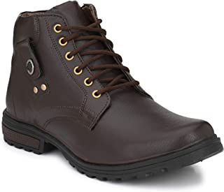 Oladin Mens Synthetic Leather Biker Boots