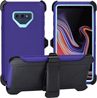 AlphaCell Cover Compatible with Samsung Galaxy Note 9 (Only) | Holster Case Series | Military Grade Protection with Carrying Belt Clip | Protective Drop-Proof Shock-Proof | Purple/Teal