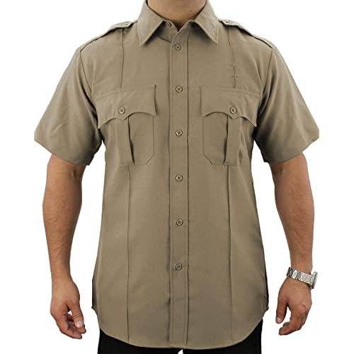 02ce1c2e165 First Class 100% Polyester Short-Sleeve Adult Men s Uniform Shirt Tan