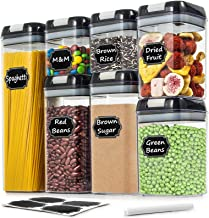Airtight Food Storage Containers - Wildone Cereal & Dry Food Storage Containers Set of 7 with Easy Locking Lids, for Kitch...
