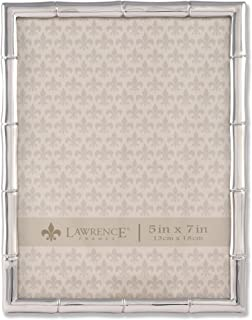 Lawrence Frames 710157 Silver Metal Bamboo Picture Frame, 5 by 7-Inch
