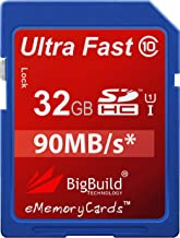 BigBuild Technology 32GB Ultra Fast 90MB s SDHC Memory Card for Nikon D80 Camera