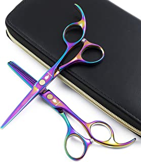 SMITH CHU Professional Hair Cutting Scissors Set - Razor Sharp Japanese 440C Stainless Steel-Hairdressing Thinning/Texturizing Shears for Barber/Hairdresser