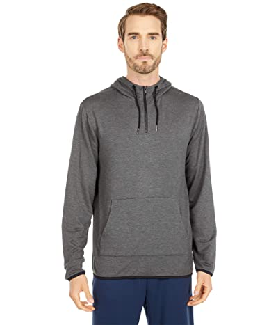 Threads 4 Thought Feather Fleece 1/4 Zip Hoodie (Heather Charcoal) Men