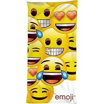 /75/cm x 150/cm/ /emojis Drap de nuque Serviette de bain Emoji Original Neuf//emballage dorigine Motif smiley/ /100/% coton serviette de plage//plage//serviette//serviette de sauna//Drap de bain/