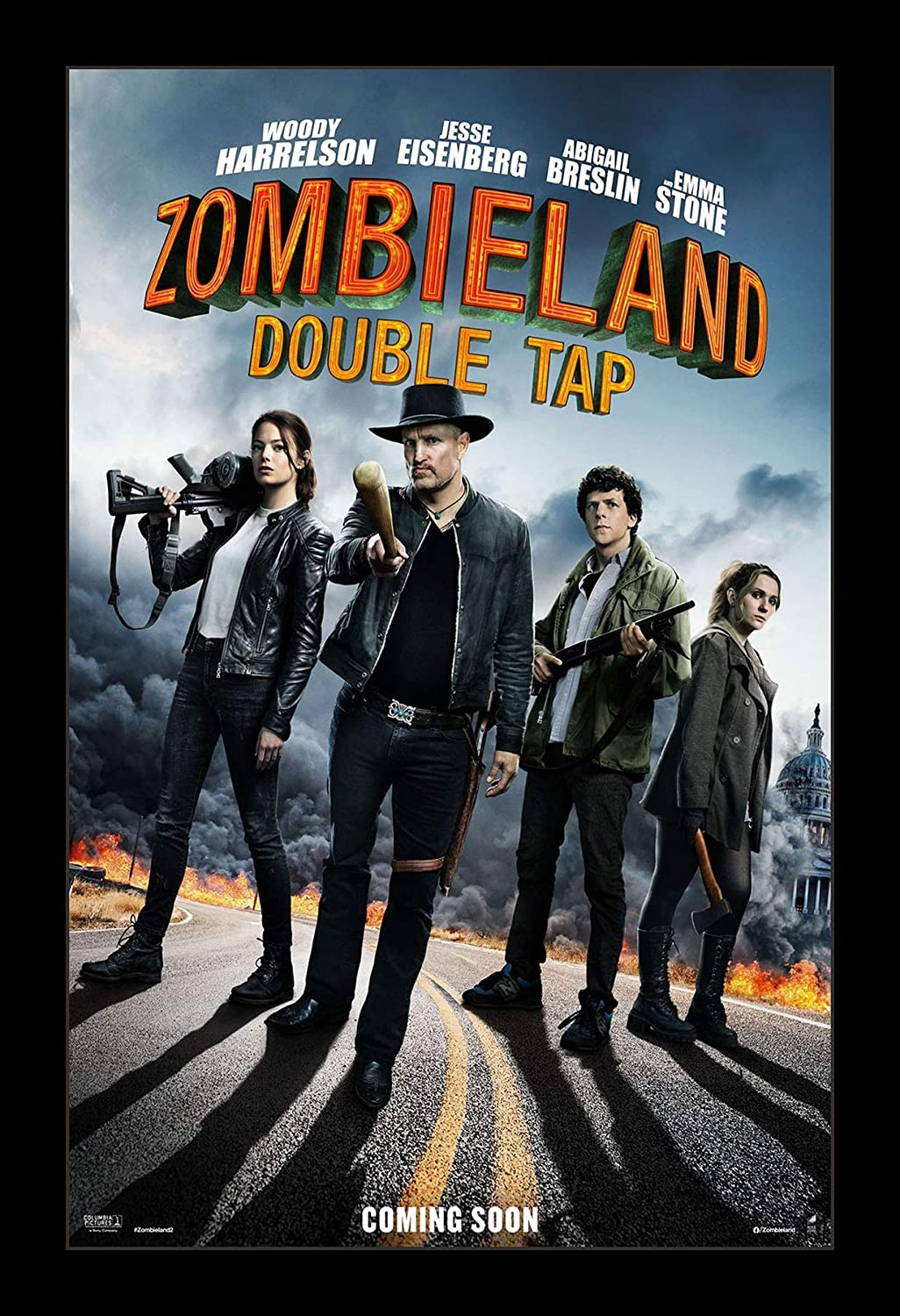 Nippon regular agency Wallspace 11x17 Framed Movie Super-cheap Poster - Tap Double Zombieland