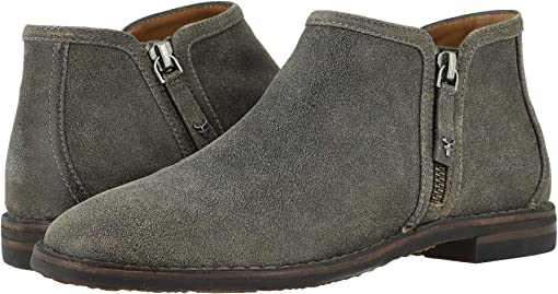Gray Distressed Italian Suede