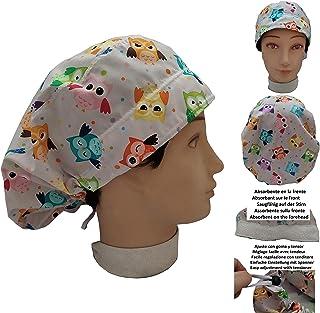 Cappello chirurgico Donna GUFI per Capelli Lunghi, veterinario, dentisti, cucina, asciugamano davanti, regolabile a propri...