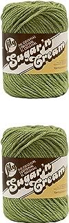 LILY Sugar 'N Cream - Pack of 2 Balls - 71G Each Ball - SAGE Green