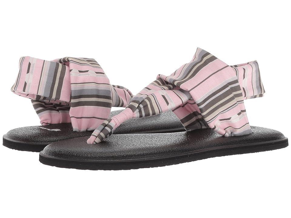 Sanuk Kids Lil Yog Sling 2 Prints (Little Kid/Big Kid) (Chalk Pink Topanga Blanket) Girls Shoes