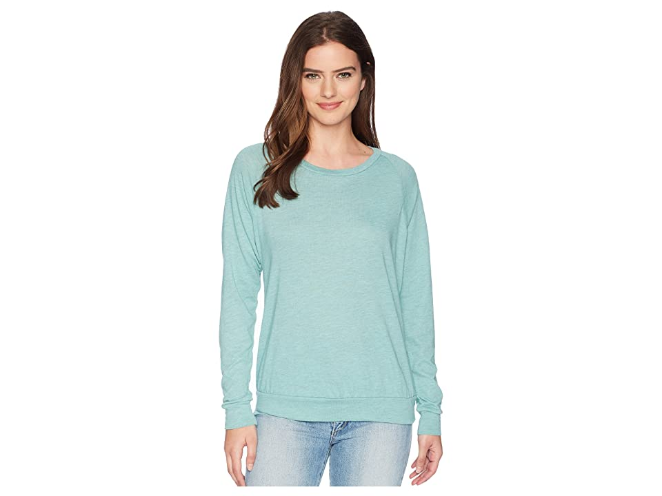 Alternative Eco-Heather Slouchy Pullover (Jade Sea Overdye Oatmeal) Women