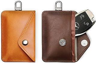 FANACAN Car Key Signal Blocker Pouch 2 Pack,RFID Blocker Bag for Car Security,Keyless Signal Blocking Key Case,3-Layer Str...