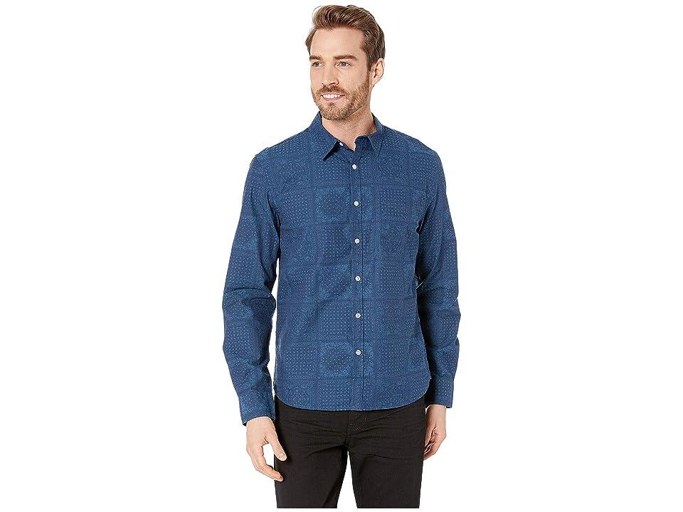 Lucky Brand Long Sleeve Indigo Shirt (Blue) Men