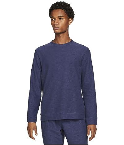 Nike Big Tall Dry Fleece Core Yoga (Midnight Navy/Gray) Men