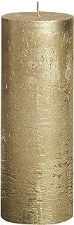 "Bolsius Tall Textured Pillar Candle in ""Metallic Gold"""