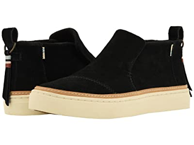 TOMS Paxton Water-Resistant Slip-Ons (Black Suede) Women