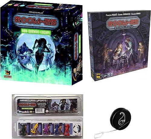 Pack Room 25 (2° édition) + Extension Escape Room+ Pack Update de 6 Mini Figurines + 1 Yoyo bleumie