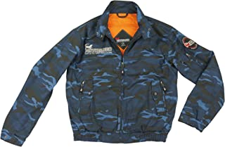 コミネ KOMINE バイク /モトファンゴ (MOTOFANGO) プロテクタトスイングトップ ジャケット アウター プロテクター Blue camo/XL 07-591 JK-591