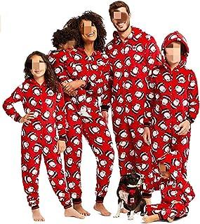 Pijamas Familiares Navideñas Pijama Navidad Familia Mono Navideños Mujer Niños Niña Hombre Pijama Reno Entero Navidad Pijamas a Juego Manga Larga Chicas Chico Invierno