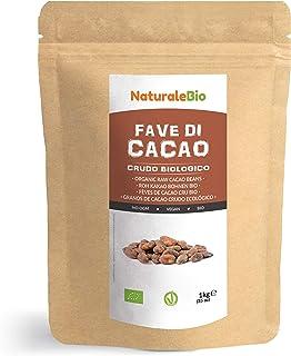 Granos de Cacao Crudo Ecológico 1Kg. 100% Bio, Natural y