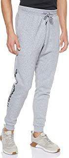 Under Armour Men's Rival Fleece Wordmark Logo Jogger Pants, Grey (Steel Light Heather/Black), Large