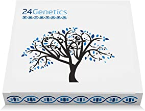 24Genetics 5-in-1 DNA Test for Ancestry (Regional), Health, Nutrigenetics, Skin Care and Sports. Includes at-Home Swab Col...