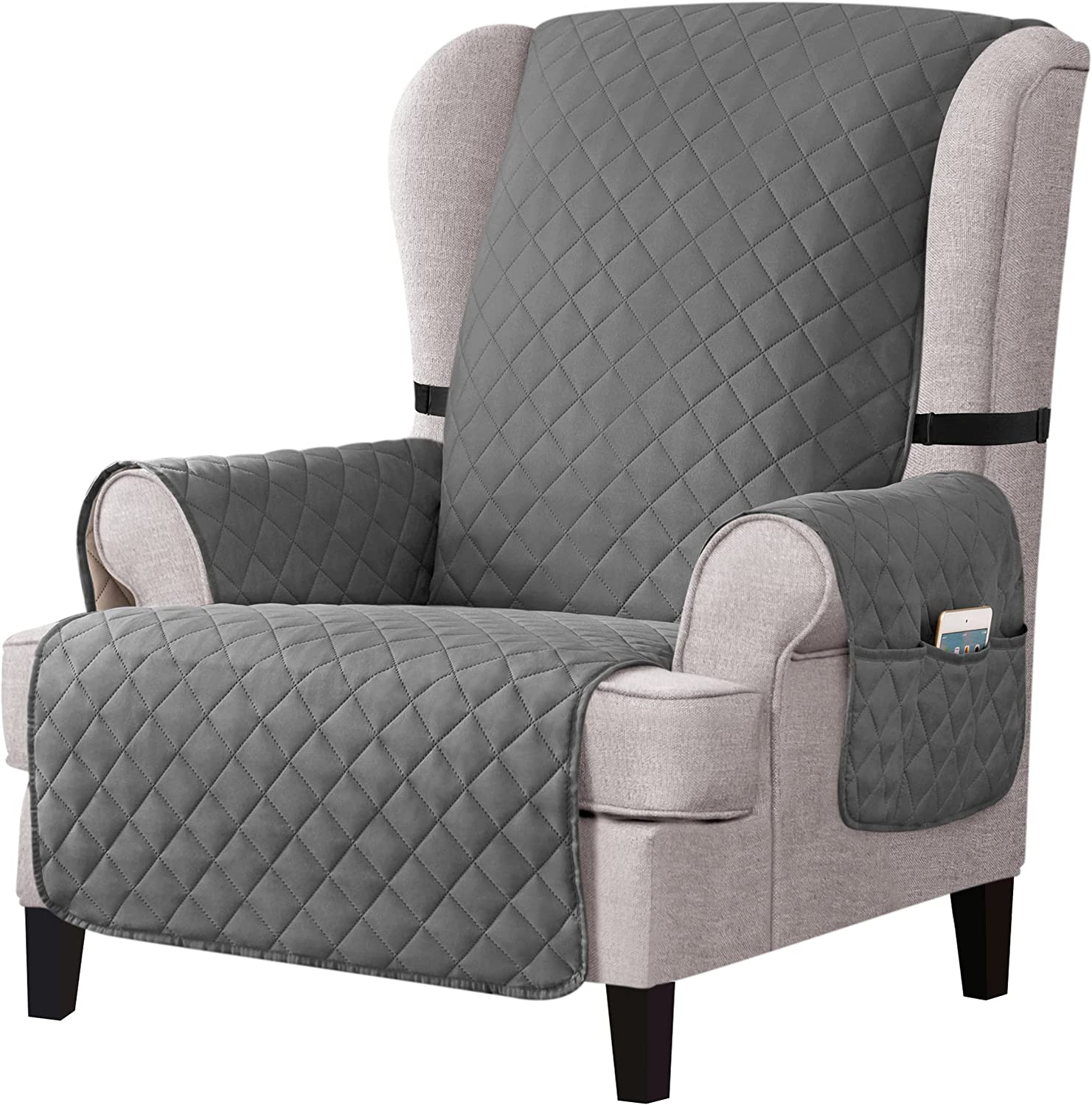 CHUN YI Reversible Wing In a popularity Chair w Slipcover Year-end annual account Wingback Covers