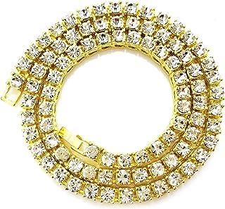Unisex Iced Out Hip Hop Silver Gold Artificial Diamond cz...