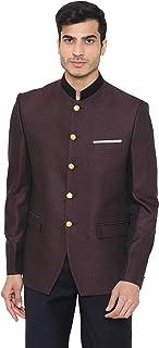 WINTAGE Men's Jacquard Grandad Bandhgala Coat Nehru Modi Blazer : Multiple Colors