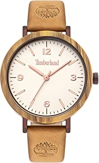 Timberland Nayson Women Analogue Watch With Beige Dial And Grey Leather Strap - TBL15958MYBNBE-07