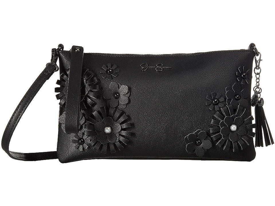 Jessica Simpson Natalia Clutch Crossbody (Black) Cross Body Handbags