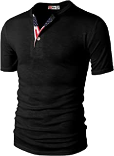 H2H Mens Casual Henley T-Shirts Short Sleeve Relaxed Fit