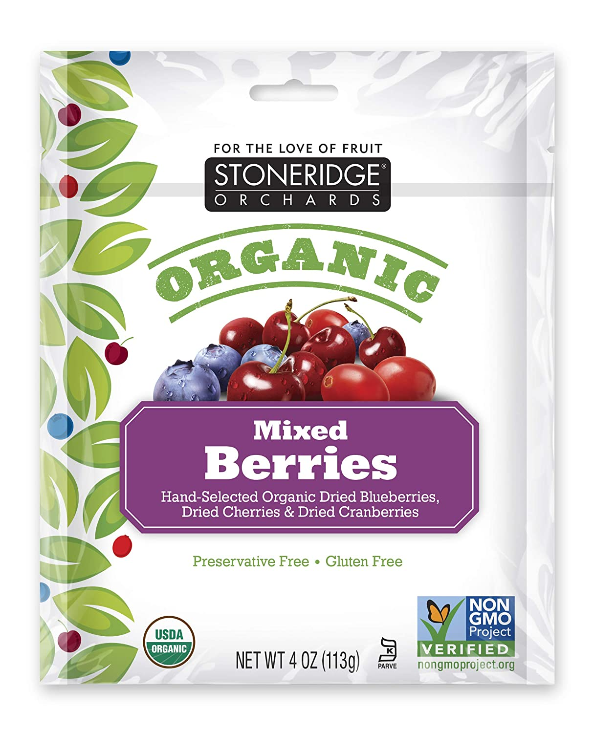 Stoneridge Orchards Organic Berry Mix gift 4 6 55% OFF Drie Pack oz Whole -