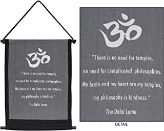 4Rissa Dalai Lama Om Symbol Kindness Prayer Inspirational Quote Tapestry Healing Reiki Studio Hanging Wall Art