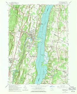 YellowMaps Saugerties NY topo map, 1:24000 Scale, 7.5 X 7.5 Minute, Historical, 1963, Updated 1971, 27 x 22 in
