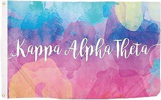 Desert Cactus Kappa Alpha Theta Water Color Sorority Flag Greek Letter Use as a Banner Large 3 x 5 Feet Sign Decor