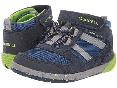 Merrell Kids Bare Steps Ridge Jr.(Toddler) (Navy/Green) Boy
