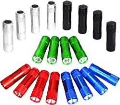 FASTPRO 20-Pack 100 Lumen (1W)Super Bright Aluminum LED Flashlights Set, with 60-Piece AAA Dry Batteries Included and Pre-Installed