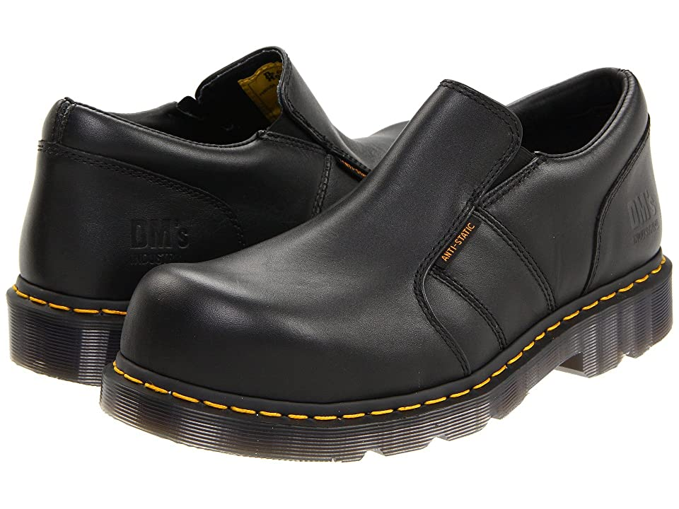 Dr. Martens Resistor ST (Black Industrial Full Grain) Plain Toe Shoes