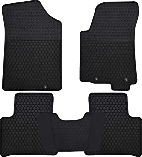 Megiteller Car Floor Mats Custom Fit for Nissan Maxima 2016 2017 2018 2019 2020 / 2014 2015 Nissan Altima Odorless Washable Heavy Duty Rubber (All Weather) Floor Liners Front and Rear Row Set