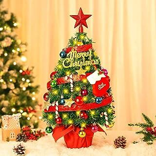 DIY Christmas Tree,Xmas Gift 18 Length Tabletop Christmas Tree Mini Christmas Tree,Desktop Christmas Tree Decoration,Led Christmas Tree