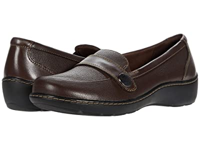 Clarks Cora Daisy (Dark Brown Tumbled Leather) Women