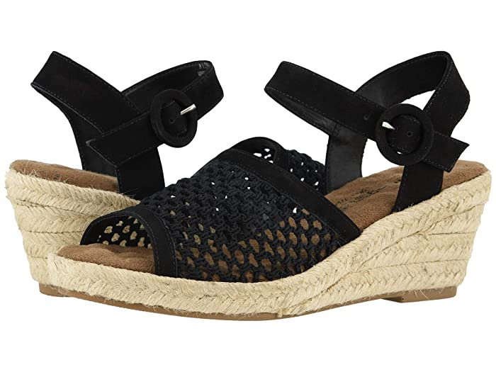 Walking Cradles  Avery (Black Nubuck/Crochet Fabric) Womens  Shoes