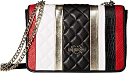 Fashion Stripes Quilted Shoulder Bag