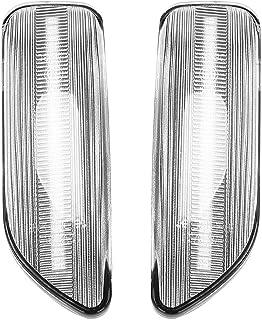 Kaxofang LED Side Marker Light Lamp, Dynamic Side Blinker Turn Signal Light for XC90 S80 XC70 V70 S60 2001-2009 Transparent