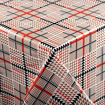 Vinylla Nappe Moderne en PVC Facile à Nettoyer Motif Tartan, Diameter 160 cm