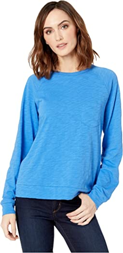 Pocket Sweatshirt in Loose Knit Slub