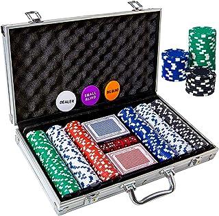 Tocebe Poker Chips Set, 200PCS/300PCS Poker Chips with Aluminum Case, 11.5 Gram Poker Set..